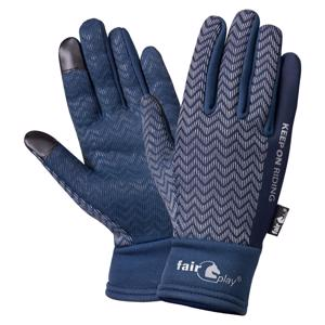 Fair Play Cortina Herringbone Vinter Handsker - Navy
